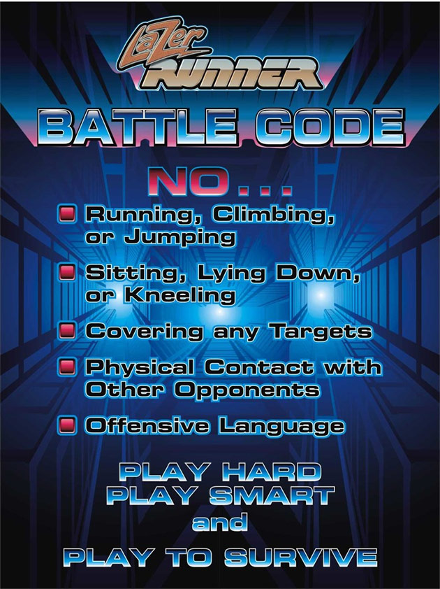 lazer runner battle code