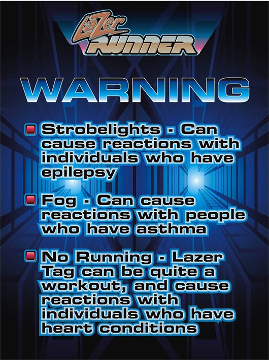lazer runner warning